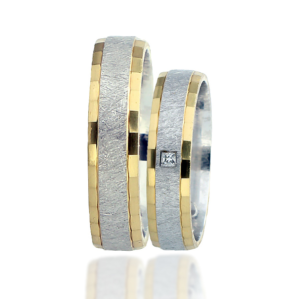 Snubní prsten typ F105 – Kombinované