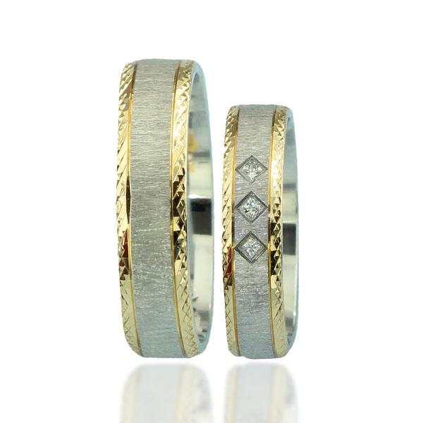Snubní prsten typ F69 – Kombinované