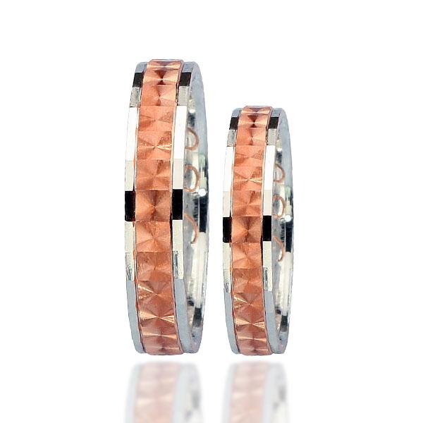 Snubní prsten typ F86 – Kombinované