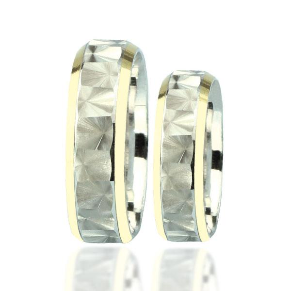 Snubní prsten typ F89 – Kombinované