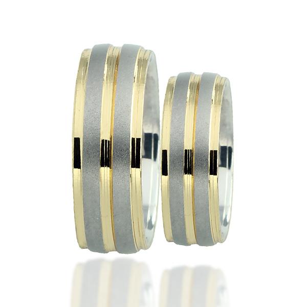 Snubní prsten typ F96 – Kombinované