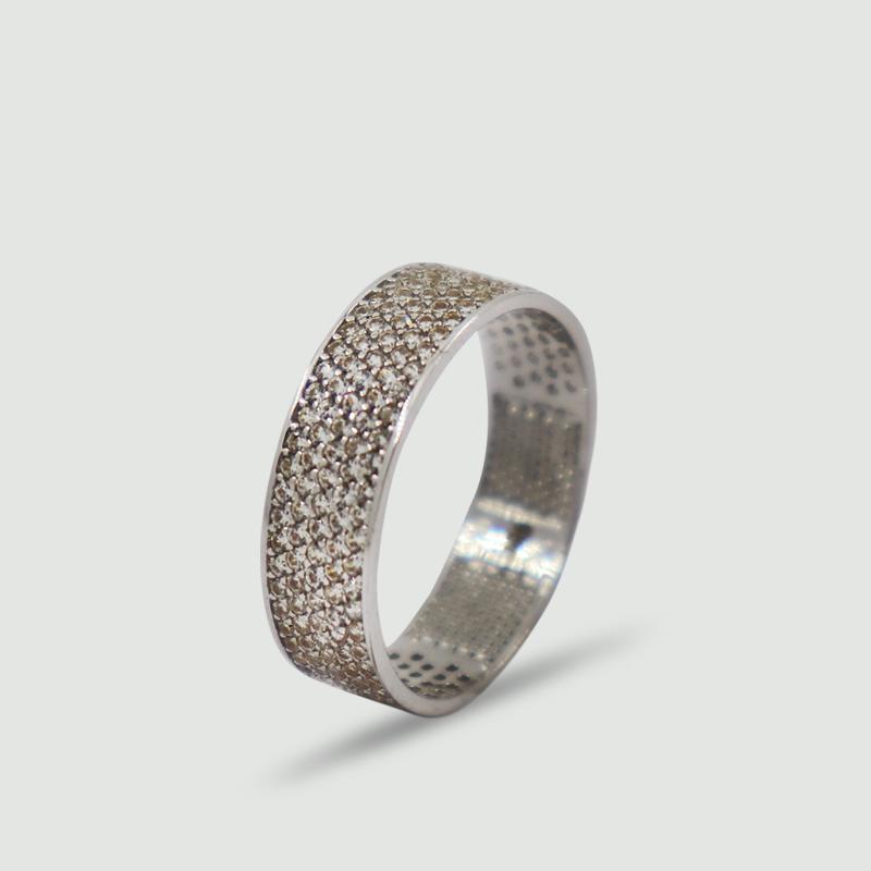 Dámský prsten z bílého zlata s cubickými zirkony 215