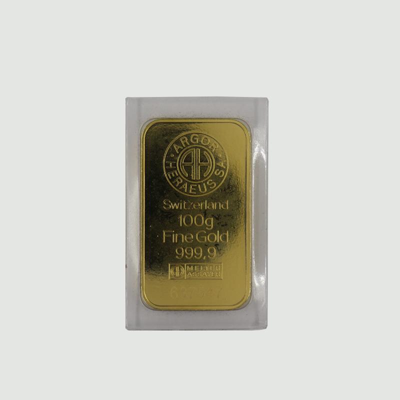 Investiční zlatý slitek 100g 0,999