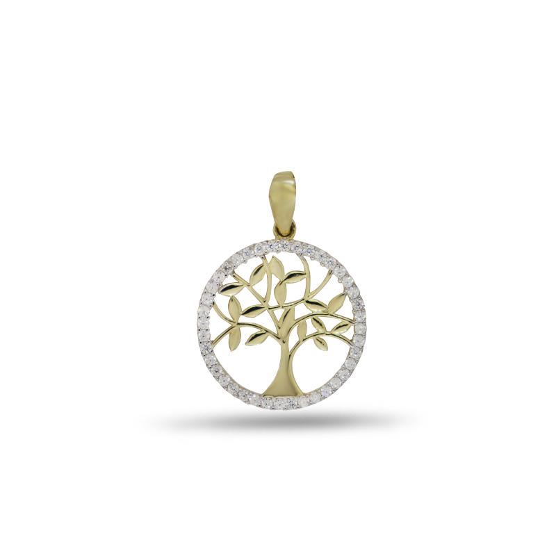 Náhrdelník se stromem života ve žlutém zlatě
