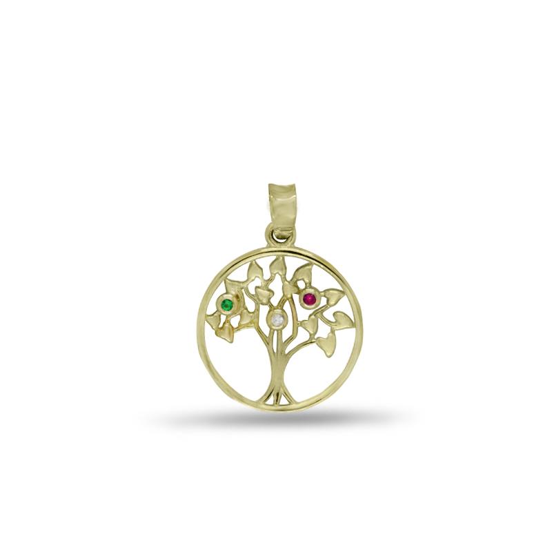 Náhrdelník se stromem života ve žlutém zlatě 1249/9